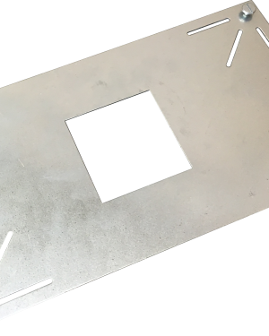 Montageplatte für Infrarotheizung