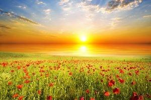 Sonnenuntergang Infrarotheizung