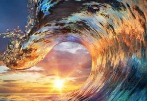bunte Welle Infrarotheizung