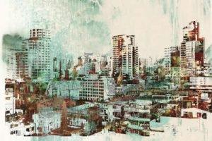 abstrakte Stadt Infrarotheizung