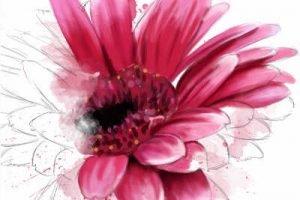 Blume in Wasserfarben