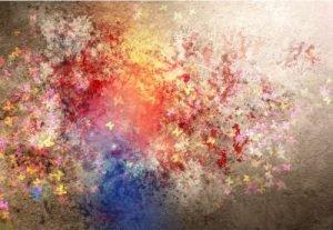 abstraktes Farbspiel